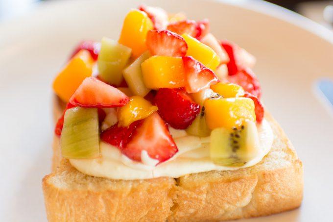 雪ノ下のフルーツトースト